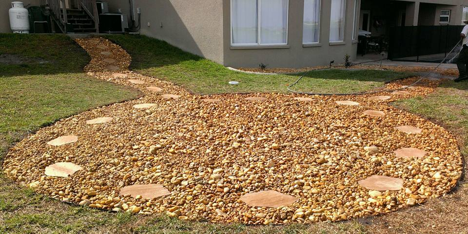 rock path after