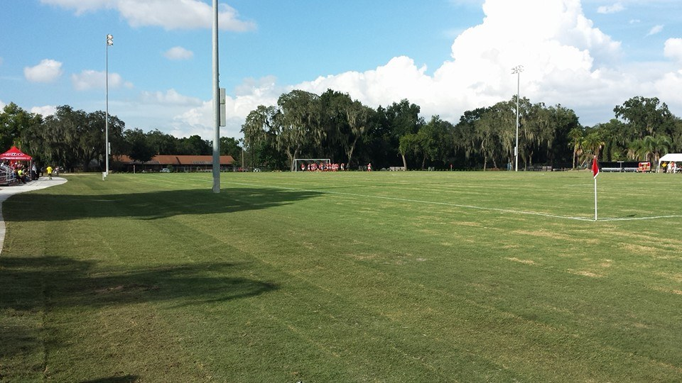 Southeastern University soccer field after